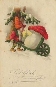 Zwerg Postkarte, ca Anfang des 20. Jahrhunderts