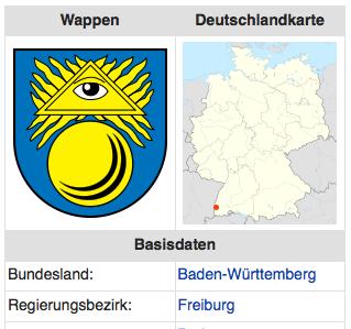 Wappen und geografische Lage von Bad Krozingen, BW