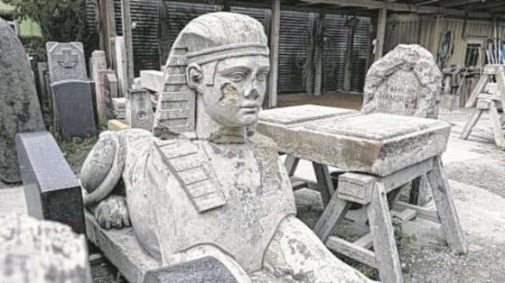 Sphinx, die in der Altstadt gefunden wurde