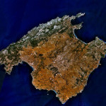 Satellitenbild der Insel Mallorca