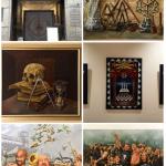 Abbildung zeigt 6 Gemälde von Jens Rusch