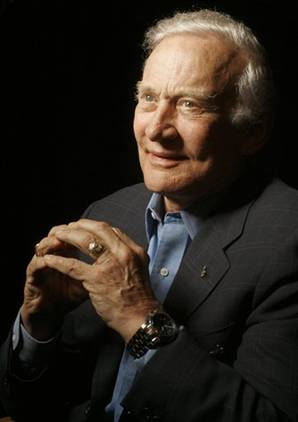 Foto vom Astronauten Buzz Aldrin
