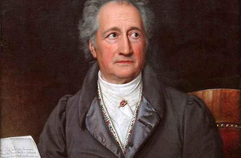 Gemälde zeigt Goethe, porträtiert von Joseph Karl Stieler
